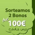Sorteamos dos Bonos de 100 € cada uno