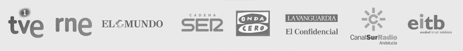 Rne, el mundo, cadena ser, onda cero, la vanguardia, El confidencial, Canal Sur radio, Eitb